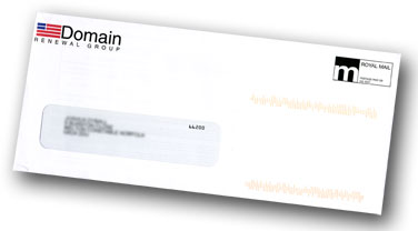 Domain Renewal Group envelope