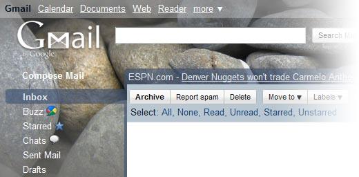 Google Gmail screen shot