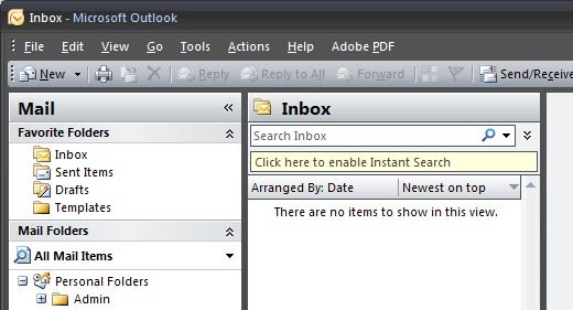 Microsoft Outlook screen shot