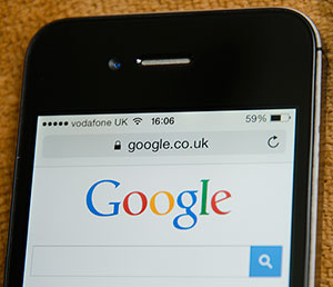 Google Search Engine on mobile